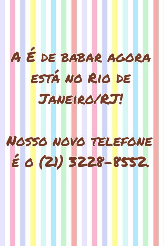 MUDAMOS PARA O RIO DE JANEIRO!